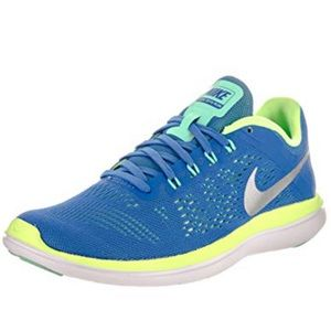 Nike Blue & Green Free Run 2016 Run Sport Shoe